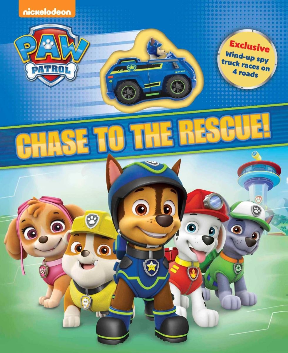 """Chase to the Rescue!"" book cover"